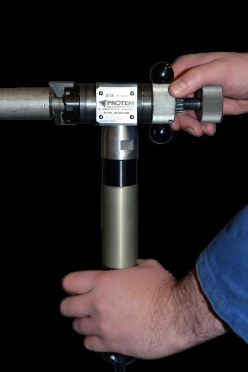 S18 - Rohrendanfasmaschine-Rohrbearbeitungsmaschine mit Druckluftantrieb